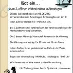 2. offenes Hähnekrähen in Altenhagen
