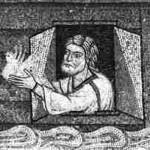 Noah sendet eine Taube, Mosaik San Marco/ Venedig, 13. Jh.