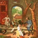 Hühnerhof, um 1660 von Jan Steen gemalt