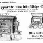 Anzeige aus der Berliner Geflügel-Zeitung von 1898