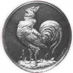 Silberne Medaille der Stadt Bielefeld für die Geflügelzüchter aus dem Jahre 1894; Vorderseite