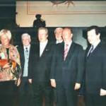 Prominente Ehrengäste (v.l.): Gabriele Behler, Ministerin für Schule, Wissenschaft und Forschung NRW; Edwin Vef, BDRG-Präsident; Gastgeber Wilfried Detering; Prof.Dr. Hans-Joachim Schille; Bürgermeister und MdB Dr. Rainer Wend und Detlef Helling