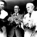 1979: Wilfried und August Detering und Erich Westerheide stellen die Geflügelrassen vor.